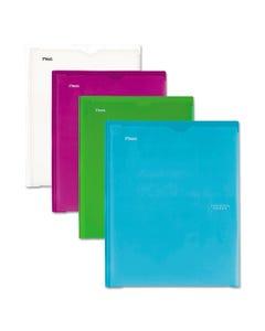 Five Star® Customizable Pocket/Prong Plastic Folder, 20 Sheets, 8 1/2 X 11, Assorted, 4/Set