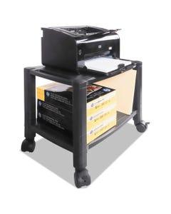 Kantek Mobile Printer Stand, Two-Shelf, 20W X 13.25D X 14.13H, Black