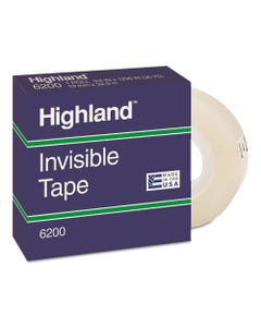"""Highland™ Invisible Permanent Mending Tape, 1"""" Core, 0.75"""" X 36 Yds, Clear"""