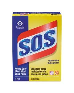 Steel Wool Soap Pad, 15 Pads/box, 12 Boxes/carton