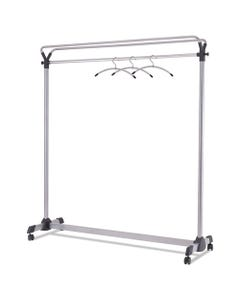 Alba™ Large Capacity Garment Rack, 63.5W X 21.25D X 67.5H, Black/Silver