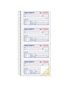 Adams® Two-Part Rent Receipt Book, 2 3/4 X 4 3/4, Carbonless, 200 Forms