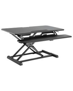 Alera® Adaptivergo Sit-Stand Workstation, 37.38W X 26.13D X 19.88H, Black