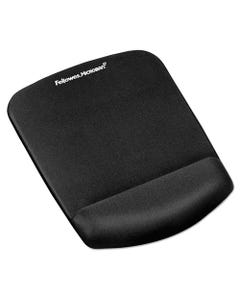 Fellowes® Plushtouch Mouse Pad With Wrist Rest, Foam, Black, 7.25 X 9.38