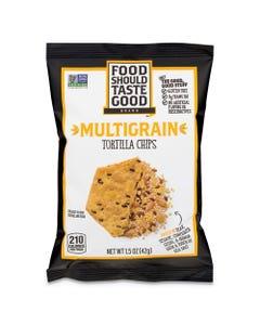 Food Should Taste Good™ Tortilla Chips, Multigrain With Sea Salt, 1.5 Oz, 24/Carton