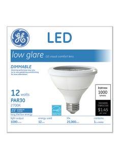 GE Led Par30 Dimmable Warm White Flood Light Bulb, 3000K, 12 W