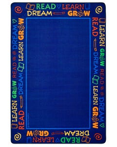 Read to Dream Border Rug, 4' x 6' Rectangle