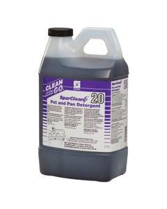SparClean Pot and Pan Detergent Manual Dish Detergent Pleasant Fragrance 2 LITER 4/CS