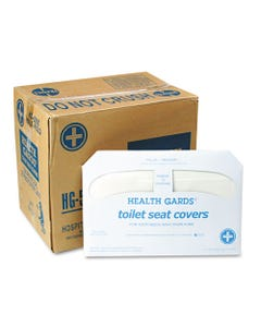 Health Gards Toilet Seat Covers, White, 250 Covers/pack, 20 Packs/carton