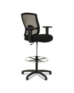 "Alera® Alera Etros Series Mesh Stool, 36.13"" Seat Height, Supports Up To 275 Lbs, Black Seat/Black Back, Black Base"