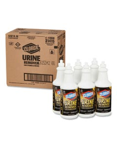 Clorox® Urine Remover For Stains And Odors, 32 Oz Pull Top Bottle, 6/Carton