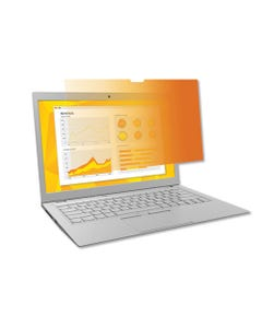 """3M™ Gold Frameless Privacy Filter For 15.6"""" Widescreen Laptop, 16:9 Aspect Ratio"""