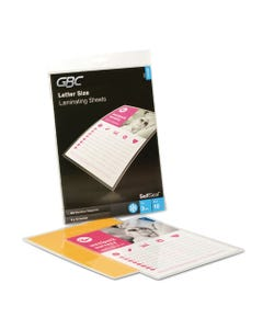 """GBC® Selfseal Self-Adhesive Laminating Pouches And Single-Sided Sheets, 3 Mil, 9"""" X 12"""", Gloss Clear, 10/Pack"""