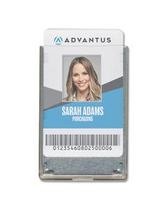 Advantus Rigid Two-Badge Rfid Blocking Smart Card Holder, 3.68 X 2.38, Clear, 20/Pack
