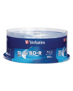 Verbatim® Bd-R Blu-Ray Disc, 25Gb, 16X, 25/Pk