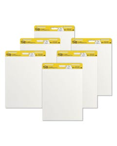 Post-it® Easel Pads Super Sticky Self-Stick Easel Pads, 25 X 30, White, 30 Sheets, 6/Carton