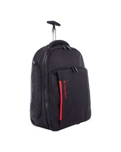 """Swiss Mobility Stride Business Backpack On Wheels, For Laptops 15.6"""", 10"""" X 10"""" X 21.5"""", Black"""