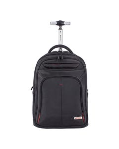 """Swiss Mobility Purpose Overnight Backpack On Wheels, 11"""" X 11"""" X 21.5"""", Black"""