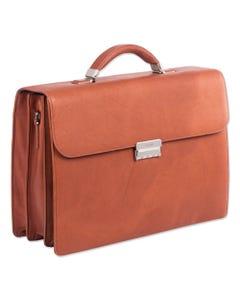 "Swiss Mobility Milestone Briefcase, Holds Laptops 15.6"", 5"" X 5"" X 12"", Cognac"