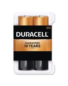 Duracell® Coppertop Alkaline D Batteries, 8/Pack