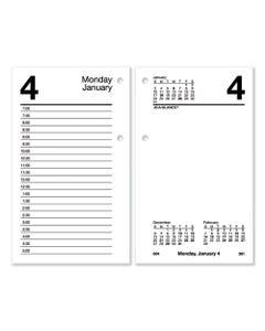 AT-A-GLANCE® Desk Calendar Refill, 6 X 3.5, White, 2021