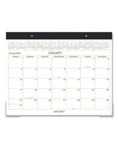 AT-A-GLANCE® Two-Color Desk Pad, 22 X 17, 2021