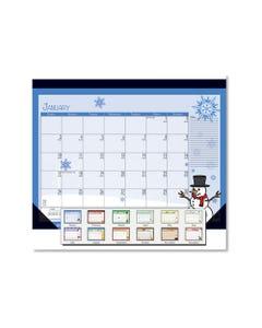 House of Doolittle™ Earthscapes Seasonal Desk Pad Calendar, 22 X 17, Illustrated Holiday, 2021