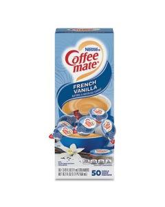 Coffee mate® Liquid Coffee Creamer, French Vanilla, 0.38 Oz Mini Cups, 50/Box