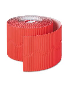 """Pacon® Bordette Decorative Border, 2 1/4"""" X 50' Roll, Flame Red"""
