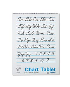 """Pacon® Chart Tablets, 1"""" Presentation Rule, 24 X 32, 25 Sheets"""