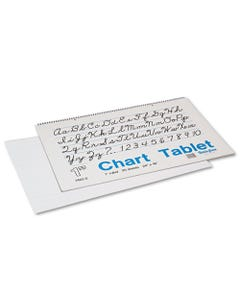 """Pacon® Chart Tablets, 1"""" Presentation Rule, 24 X 16, 25 Sheets"""