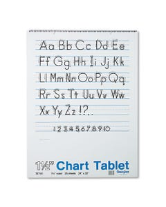 """Pacon® Chart Tablets, 1 1/2"""" Presentation Rule, 24 X 32, 25 Sheets"""