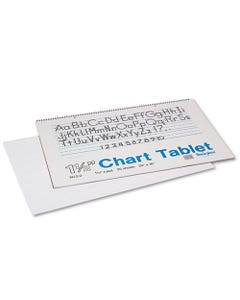 """Pacon® Chart Tablets, 1 1/2"""" Presentation Rule, 24 X 16, 25 Sheets"""