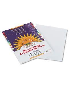 SunWorks® Construction Paper, 58Lb, 9 X 12, White, 50/Pack