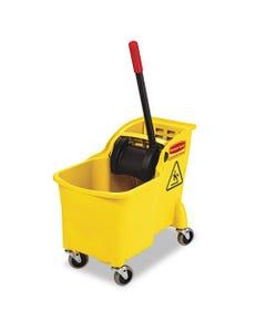 Tandem 31qt Bucket/wringer Combo, Yellow