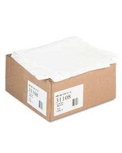 """Tatco Paper Table Cover, Embossed, W/Plastic Liner, 54"""" X 108"""", White, 20/Carton"""