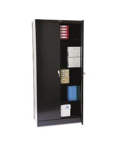 "Tennsco 78"" High Deluxe Cabinet, 36W X 18D X 78H, Black"