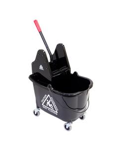 "MaxiRough® Mop Bucket & Wringer, Downpress, Yellow, 21""X17""X14"", 1EA"