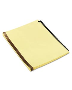 Universal® Deluxe Preprinted Simulated Leather Tab Dividers With Gold Printing, 31-Tab, 1 To 31, 11 X 8.5, Buff, 1 Set