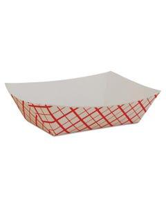 Red Checkerboard Food Tray, 4OZ, 1000/CS