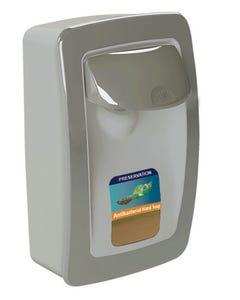 PRESERVATION Brand Designer Series Foam Wall Sanitizer Dispenser, Gray, Manual, for 1000mL Refill Bags