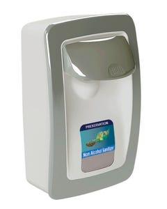 PRESERVATION Brand Designer Series Foam Wall Sanitizer Dispenser, White/Gray, Manual, For 1000mL Refill Bags