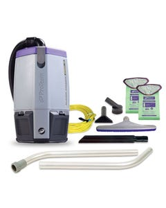 Super Coach Pro 6, 6 qt. Backpack Vacuum w/ Xover Multi-Surface Two-Piece Wand Tool Kit