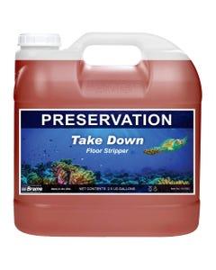 PRESERVATION Brand Take Down Floor Stripper, Lemon Fragrance, Non-Ammoniated,  2.5GA 2/CS