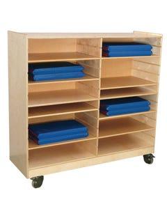 "Folding Rest Mat Storage Shelving, 49""x53""x18"""