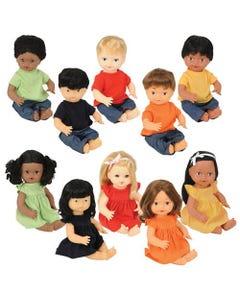 Multi-Ethnic Dolls, Set of 10