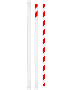 """Paper Straw, 8.3"""", Wrapped, Red/White, 6000/CS"""