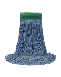 PRESERVATION Brand Cotton/Synthetic Loop-End Mop Head, Blue, 4-Ply