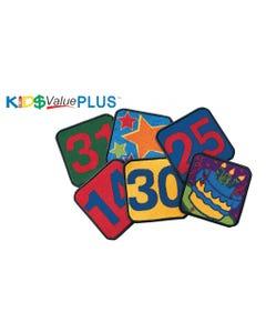 "Calendar Kit, Set of 35, 12"" Carpet Squares"