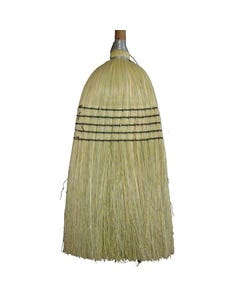 "Corn Janitor's Broom, 5 Sew, 42"" Handle"